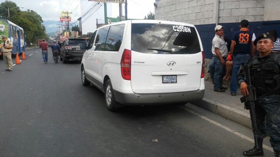 Las autoridades cerraron una vía para ejecutar el operativo. (Foto: MP)