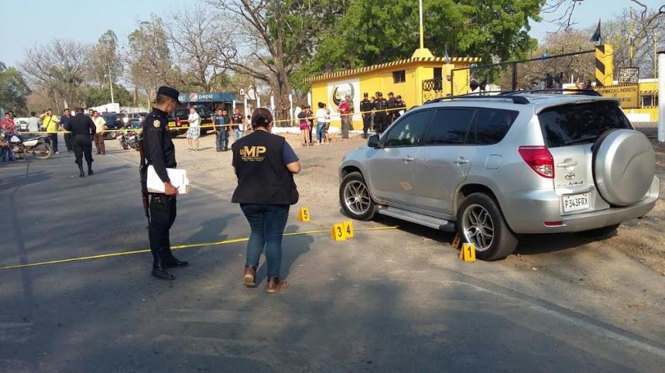 La víctima se encontraba dentro de su vehículo cuando fue atacada en Jutiapa. (Foto: Emeldina Rizo/ Nuestro Diario)