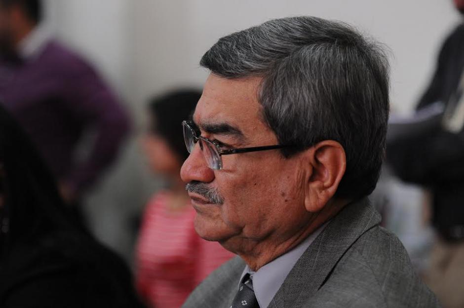José Mauricio Rodríguez Sánchez, exjefe de Inteligencia militar, durante el inicio del juicio por genocidio. (Foto: Alejandro Balán/ Soy502)