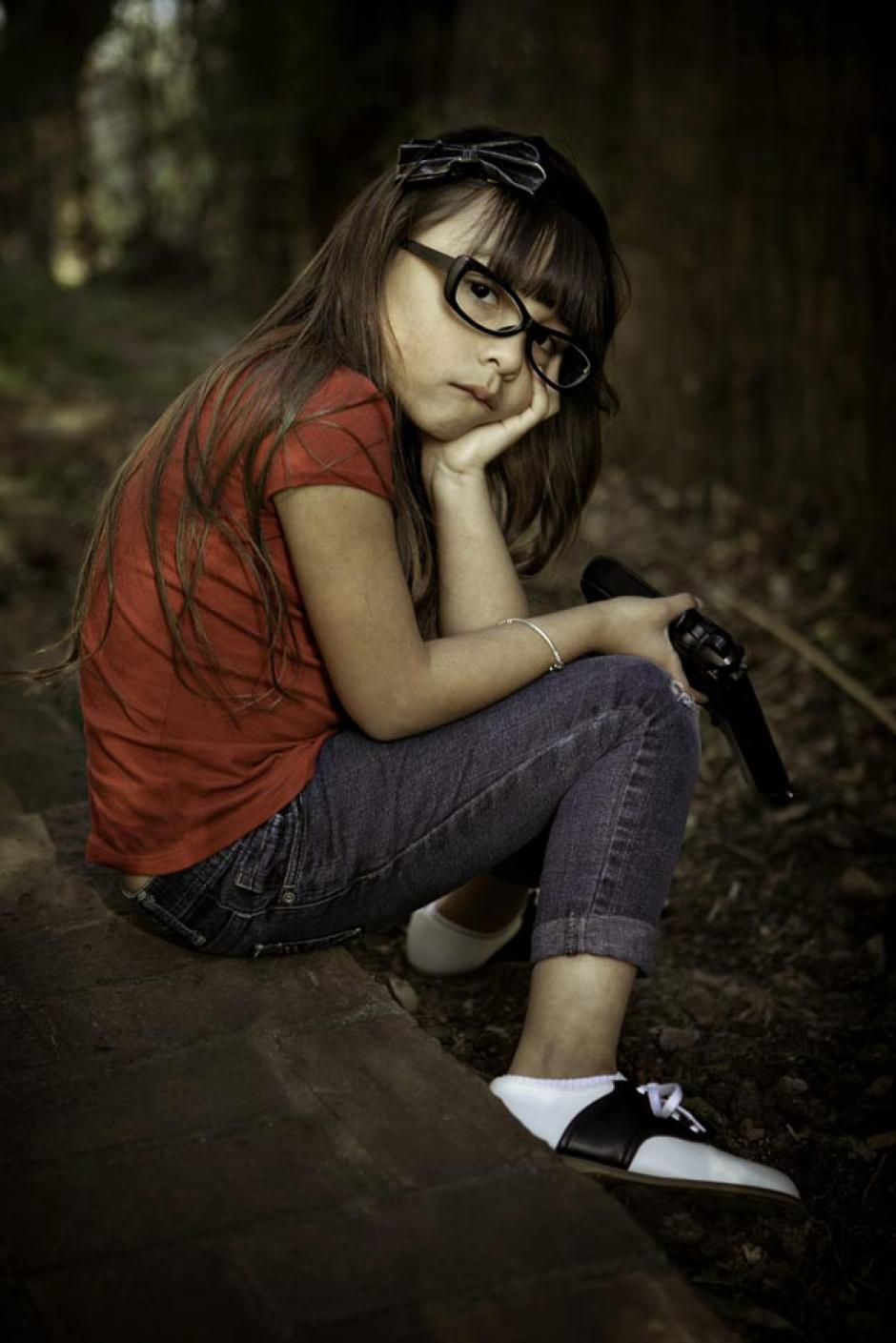Los niños utilizados para la fotografía son originarios de Newtown
