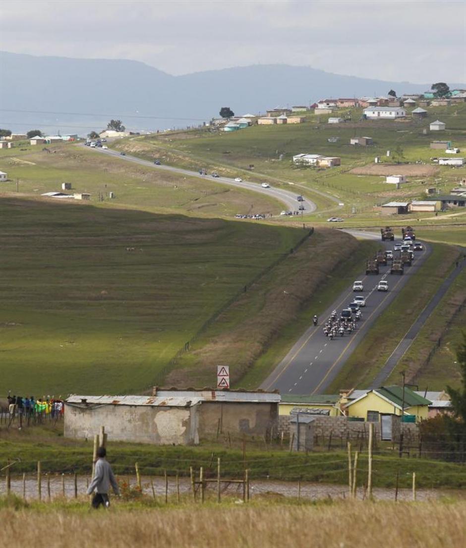 Qunu, el poblado donde Mandela pasó una infancia feliz, será el escenario de su despedida. (Foto: EFE)