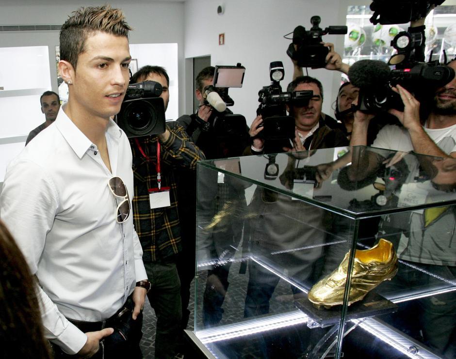 Cristiano Ronaldo, durante la inauguración de CR7 Museum, en Funchal, Isla de Madeira, Portugal. (Foto:EFE)