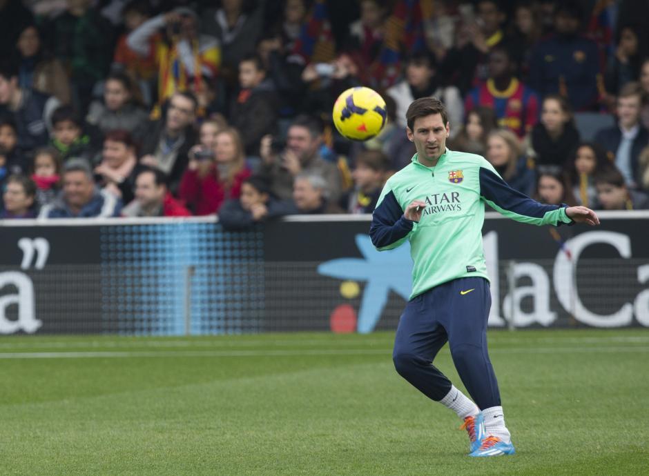Messi ya entrena con normalidad regresó a una convocatoria luego de casi dos meses de inactividad por una lesión muscular