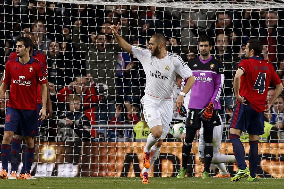 Benzema abrió el marcador para los madridistas quienes tendrán que enfrentar al Osasuna en su campo el próximo miércoles