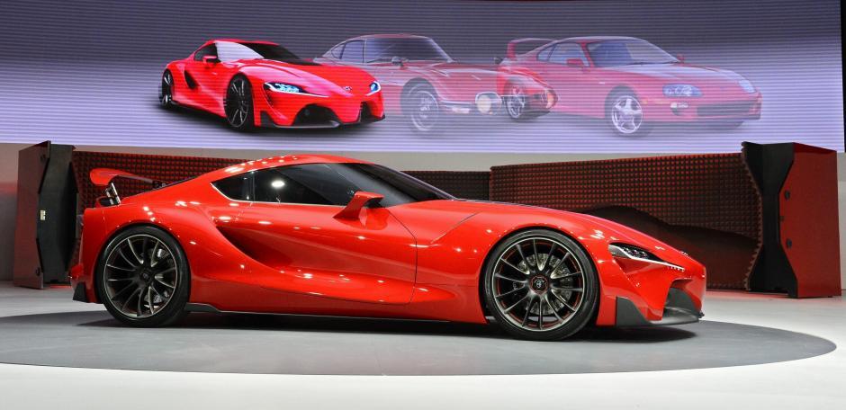 El nuevo Toyota FT-1 es presentado durante el Salón Internacional del Automóvil de Norteamérica (NAIAS), en el Cobo Center de Detroit. (Foto: EFE)