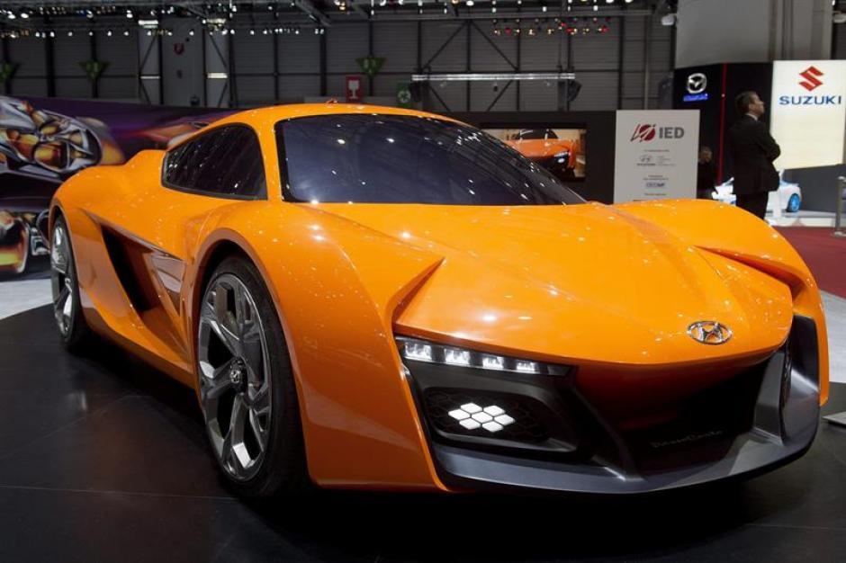 Un automóvil fabricado por el Instituto Europeo de Diseño para Hyundai permanece expuesto en el Salón del Automóvil de Ginebra. (Foto: EFE)