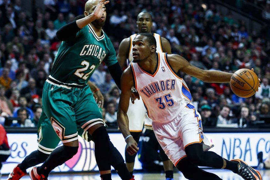 Kevin Durant fue la estrella de los Thunder de Oklahoma City