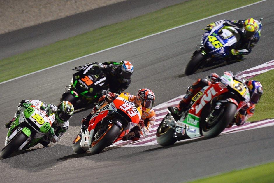 El circuito catarí de Losail fue apretado y al final fue el español Marc Márquez el ganador