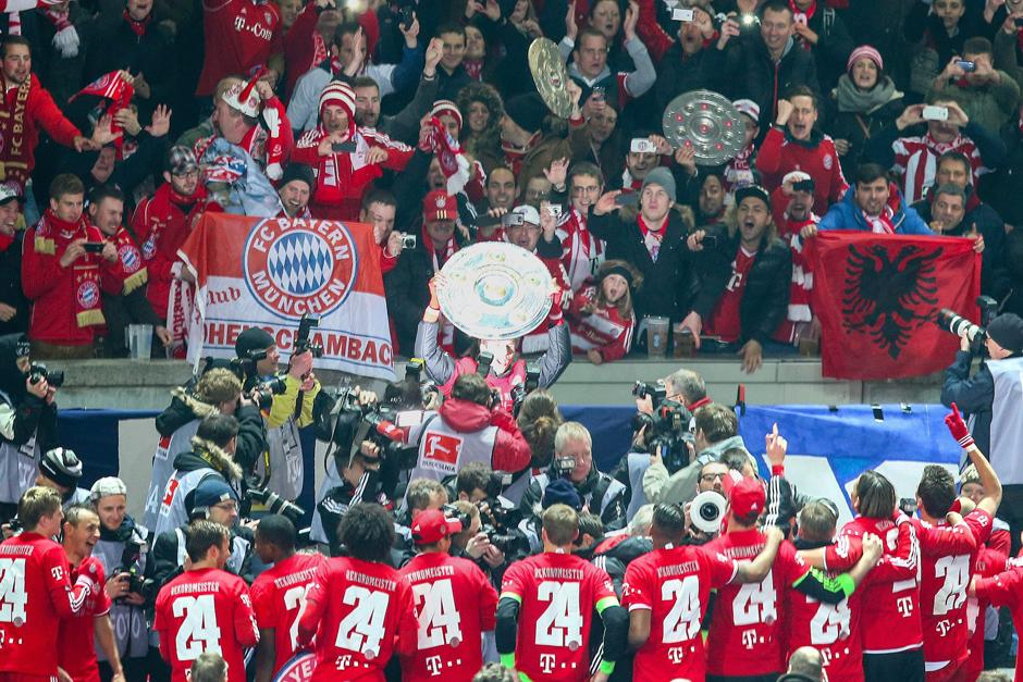 El Bayern Munich hizo historia al ganar el título a falta de nueve jornadas. (Foto: EFE)