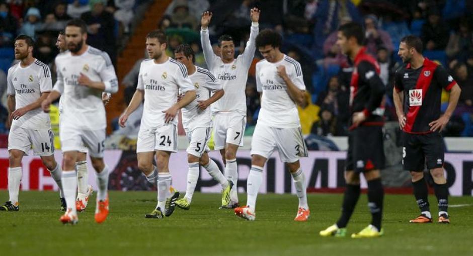 Cristiano Ronaldo aportó un gol en el triunfo 5-0 de Real Madrid sobre el Rayo Vallecano. (Foto: EFE)
