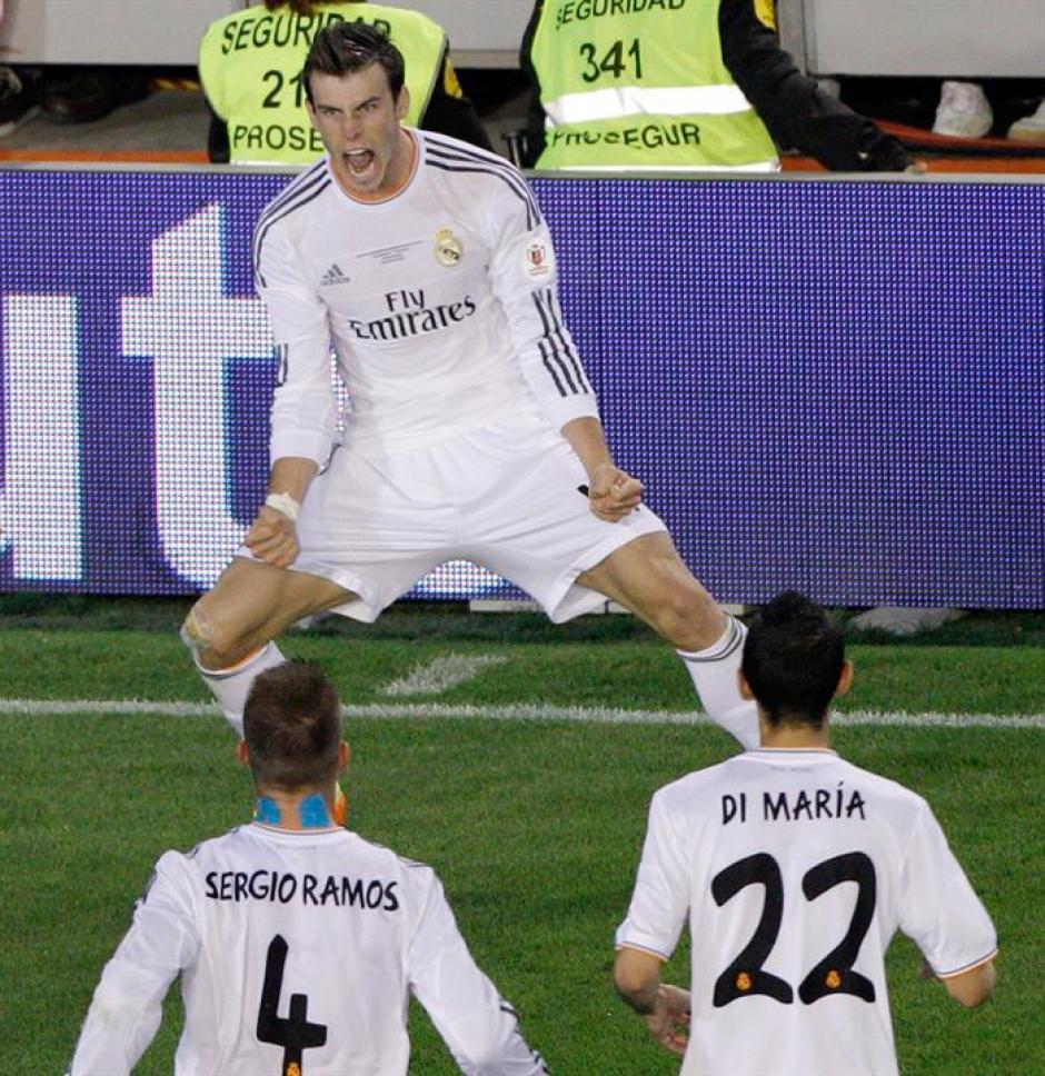 Gol decisivo de Gareth Bale que le dio el triunfo al Real Madrid y la Copa del Rey. (Foto: EFE)