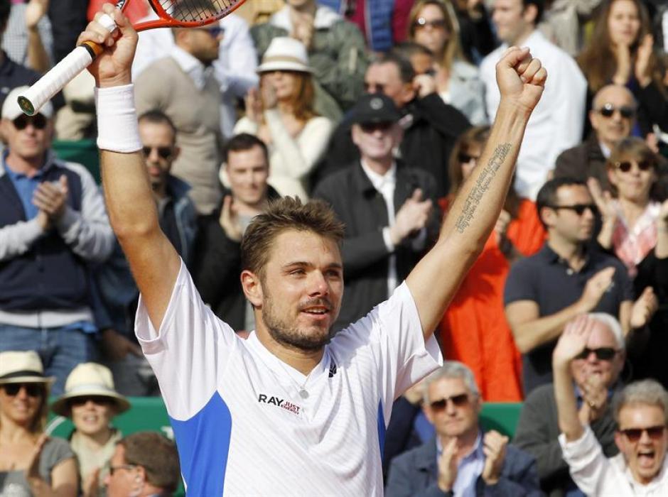 Wawrinka ganó por segunda vez en su carrera a Roger Federer y se coronó en el Masters de Montecarlo. (Foto: EFE)