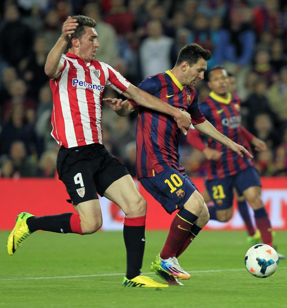 Messi no ha rendido bien en el primer tiempo del partido. (Foto: AFP)