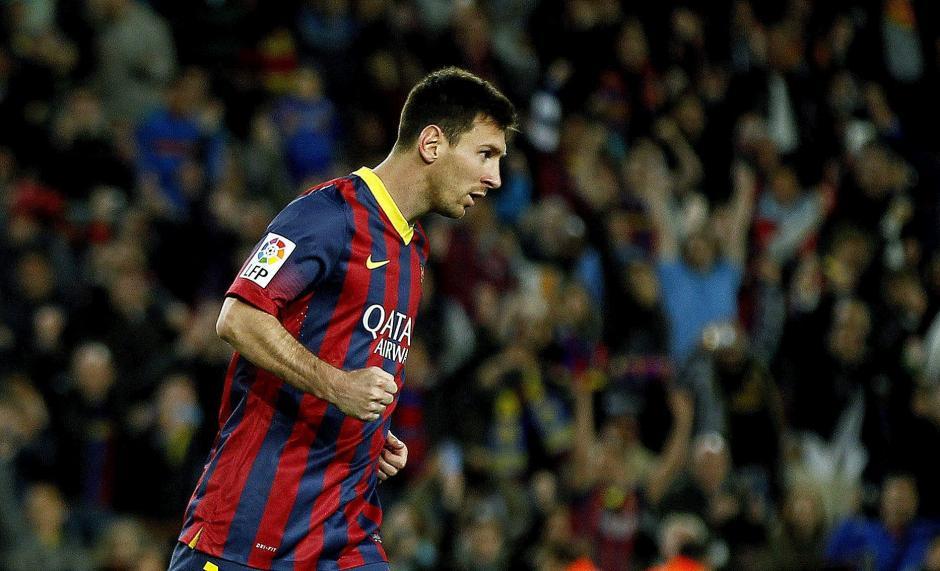 Messi celebra la remontada del Barcelona. (Foto: EFE)