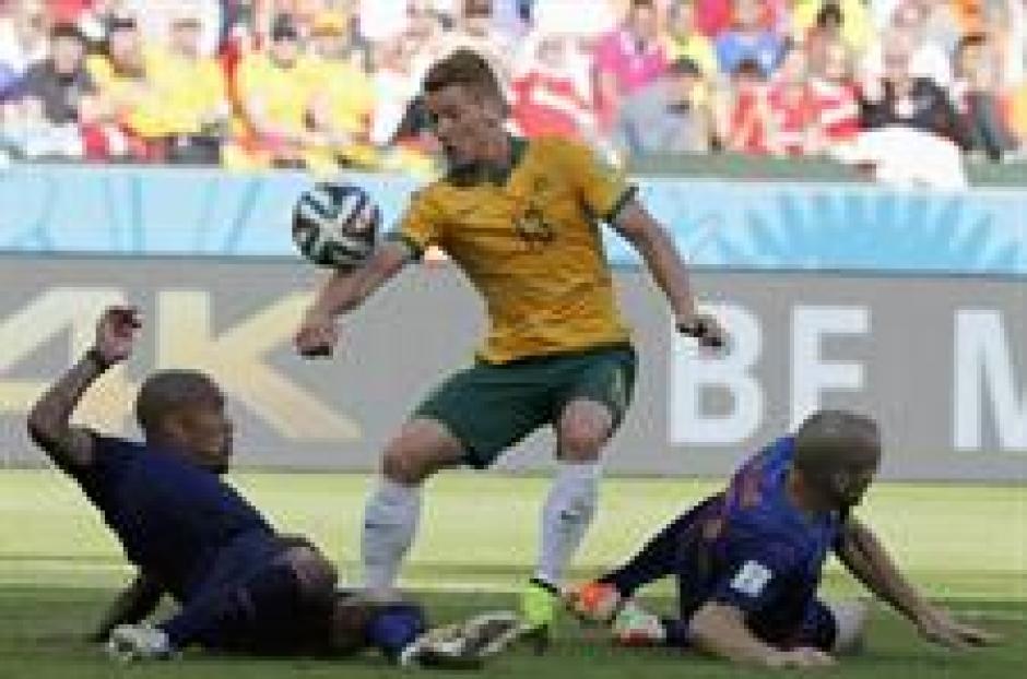 La selección australiana peleó hasta el final frente a la poderosa Holanda. (Foto: EFE)