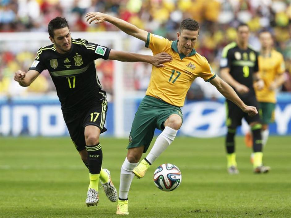 Koke jugó su primer partido de titular en un Mundial. (Foto: EFE)