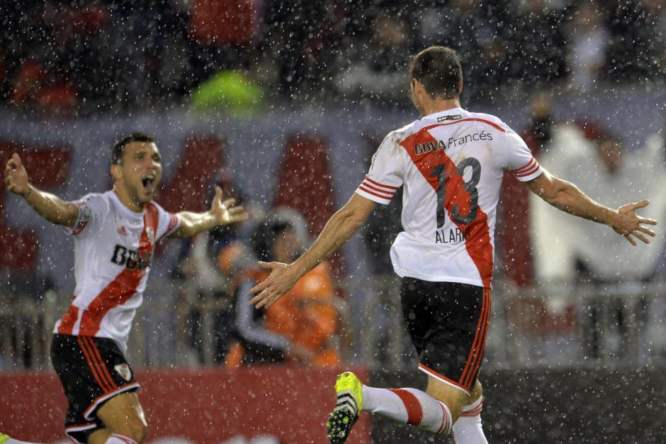 Gran festejo de los jugadores de River Plate, tras ganar la Copa Libertadores de América 2015. (Foto: EFE)