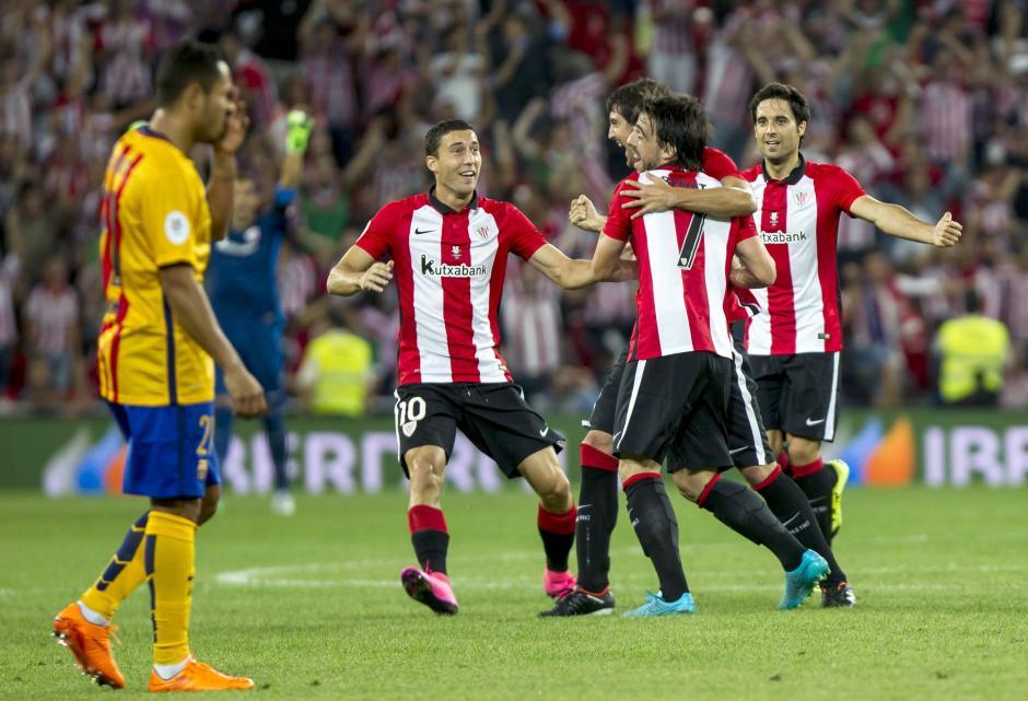El Athletic Club de Bilbao golea al FC Barcelona. (Foto: Getty)
