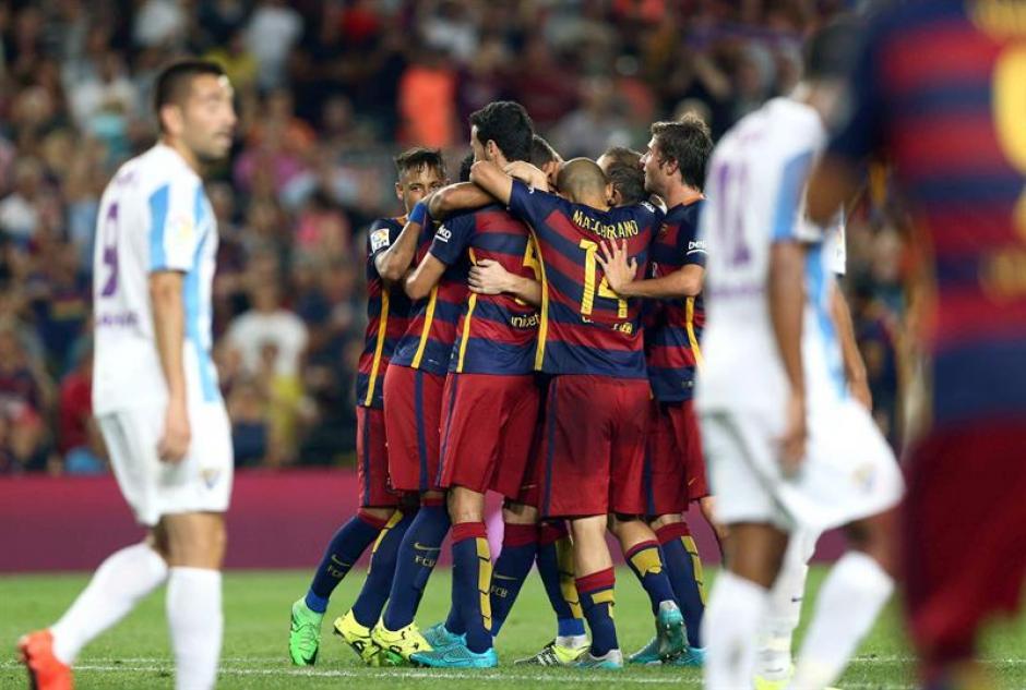 Ni Neymar, ni Messi, ni Suárez, el gol de Barcelona que le dio el triunfo ante Málaga lo hizoel belga Thomas Vermaelen. (Foto: EFE)