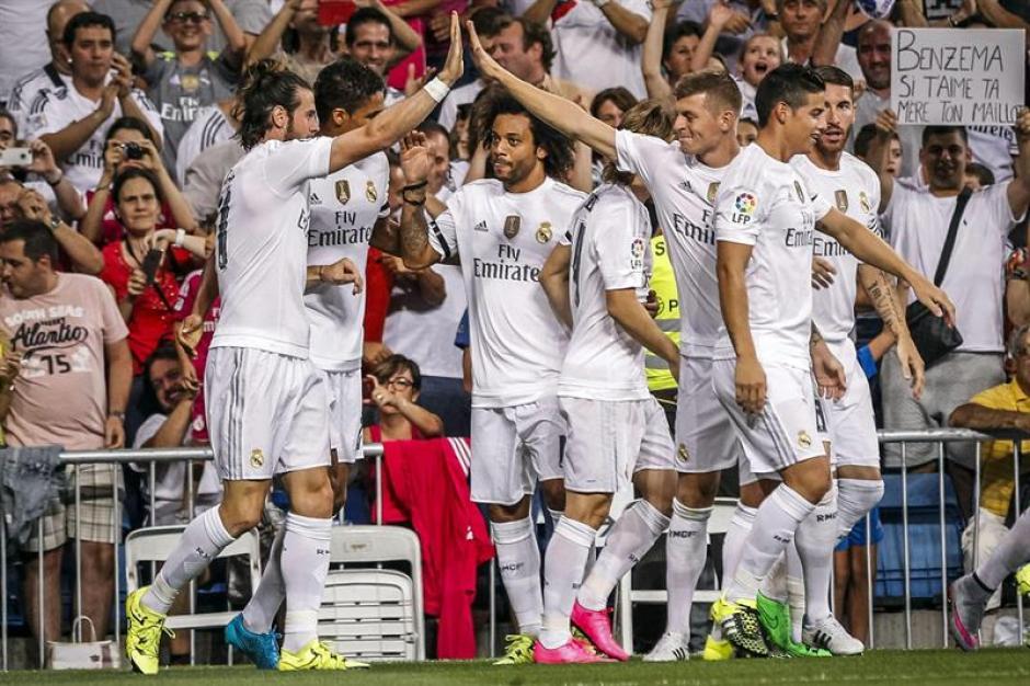 El Madrid goleó al recién ascendido Betis. James Rodríguez fue la gran figura. (Foto: EFE)
