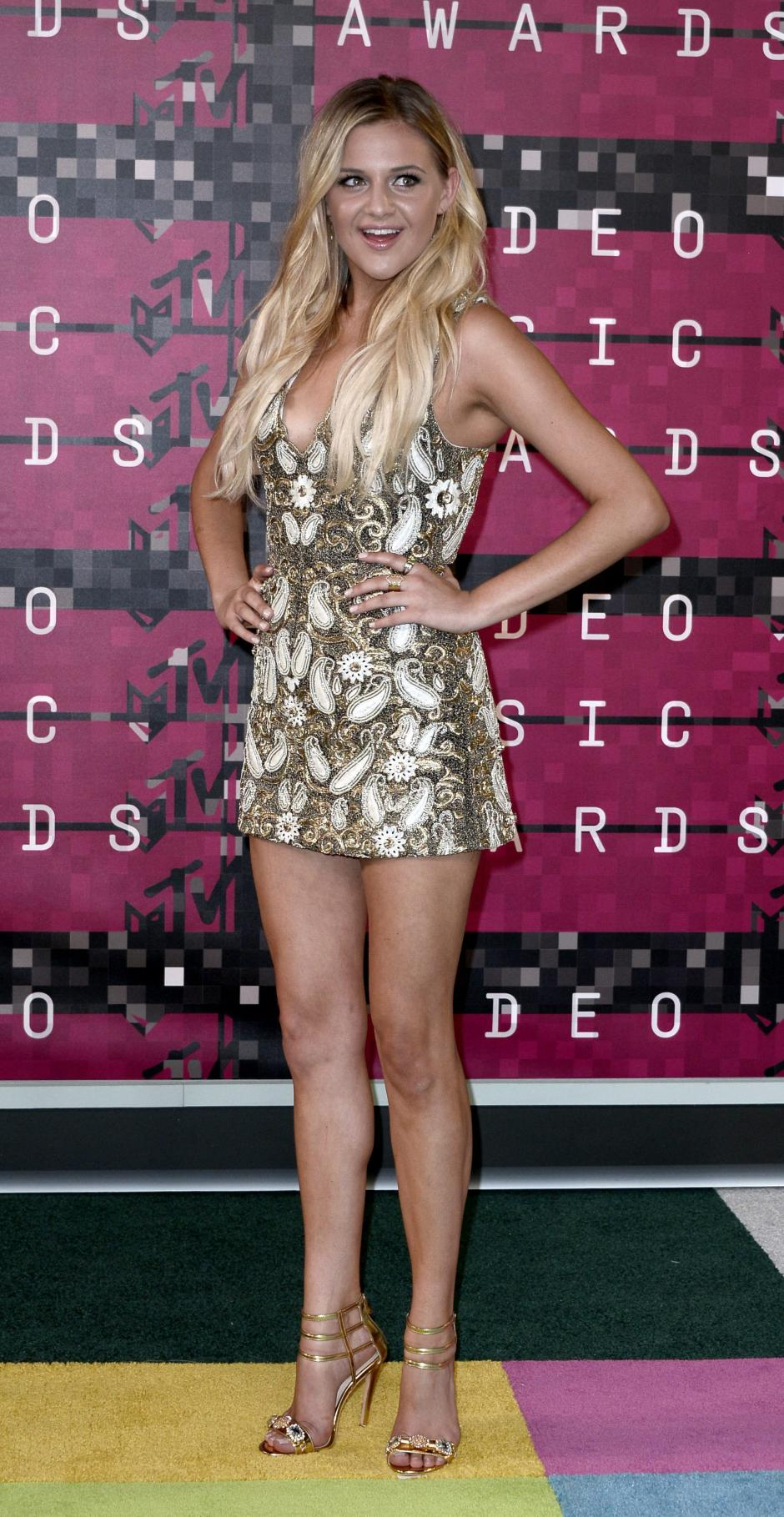La cantante de country Kelsea Ballerini llega en la alfombra roja de la 32 MTV Video Music Awards 2015. (Foto: EFE/Paul Buck)