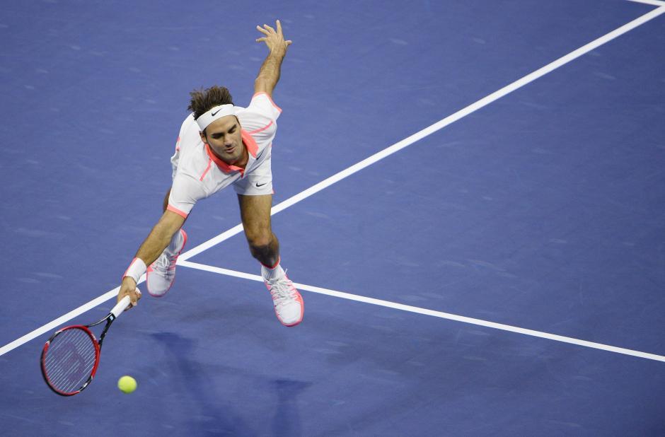 El suizo Roger Federer durante el segundo set de la final ante Djokovic
