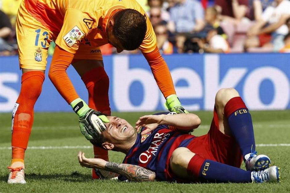 En el minuto 3 del partido ante Las Palmas fue la lesión del argentino. (Foto: EFE)