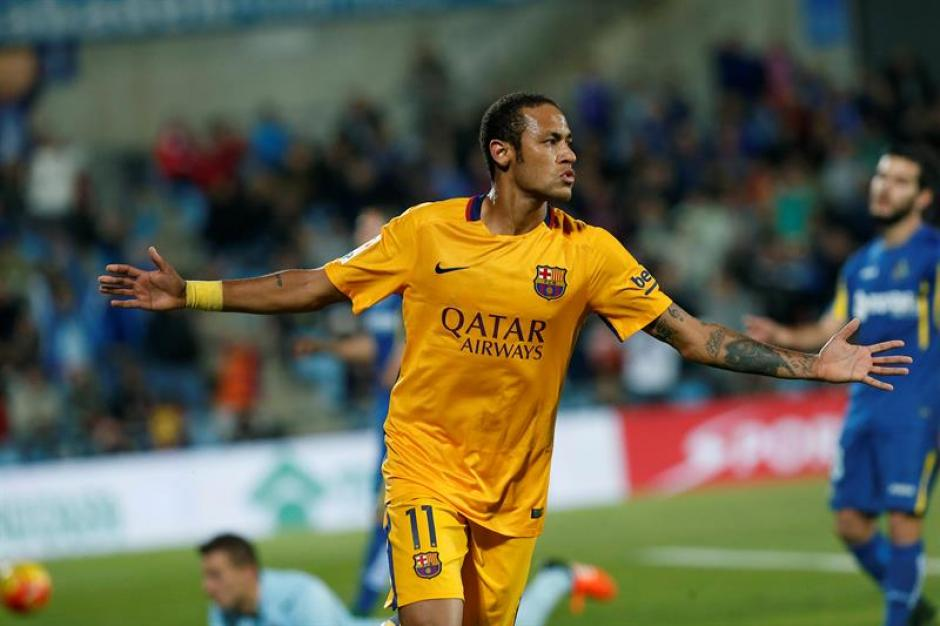 Neymar anotó el segundo de Barcelona ante Getafe, en el triunfo de los de Luis Enrique. (Foto: EFE)