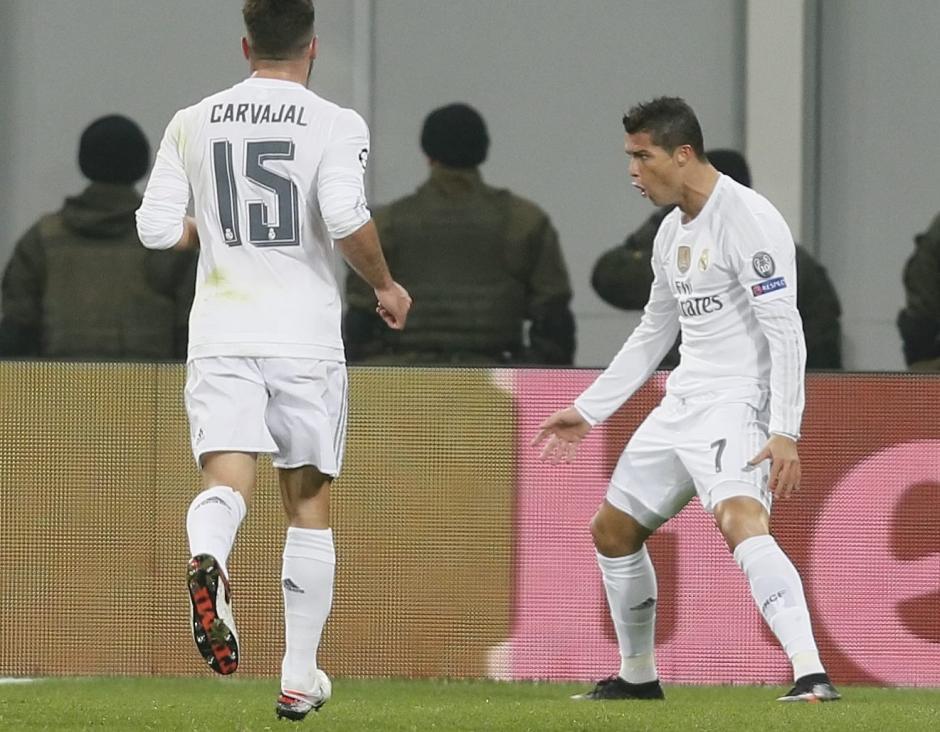 Cristiano Ronaldo marcó doblete y dio dos asistencias frente al Shakhtar. (Foto: EFE)