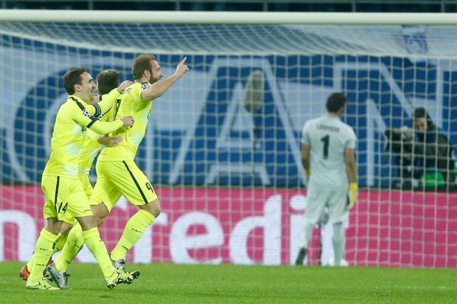 El Zenit, de Bélgica, logró la clasificación a los octavos de la Champions. (Foto: EFE)