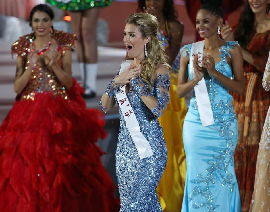 La candidata no se esperaba que fuera a ser la ganadora del certamen. (Foto: EFE)