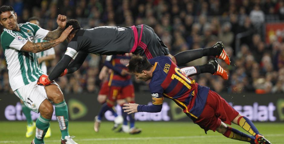 Lionel Messi anotó un gol en su partido 500, desde su debut en 2004. (EFE/Quique García)