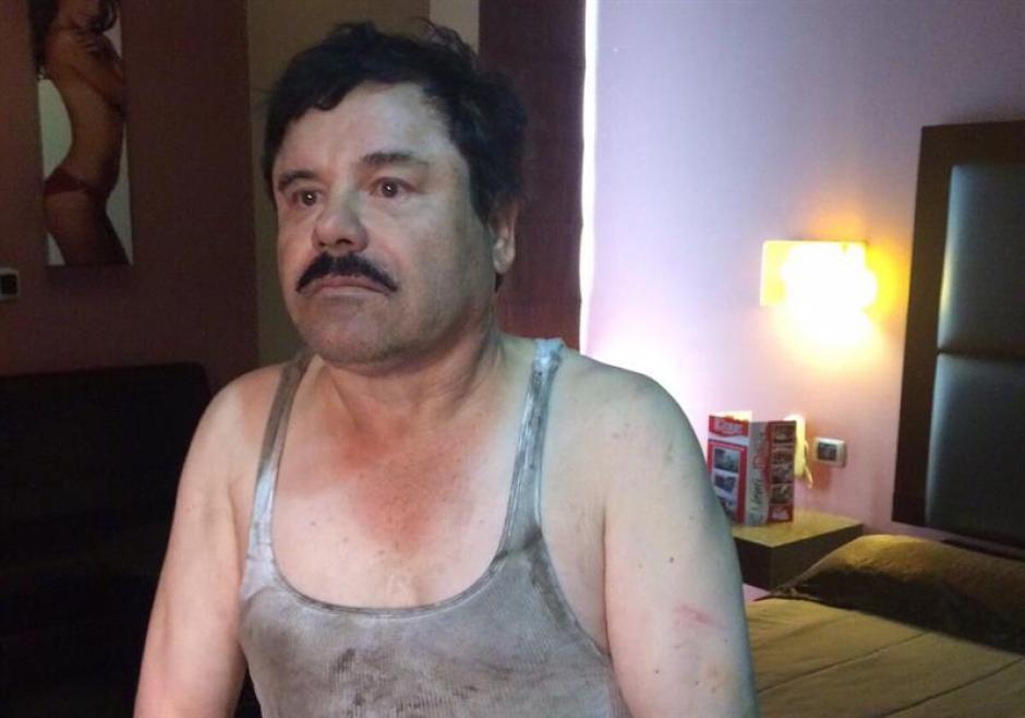 """Esta es una de las primeras imágenes sobre la captura de """"El Chapo"""" Guzmán. (Foto: EFE)"""