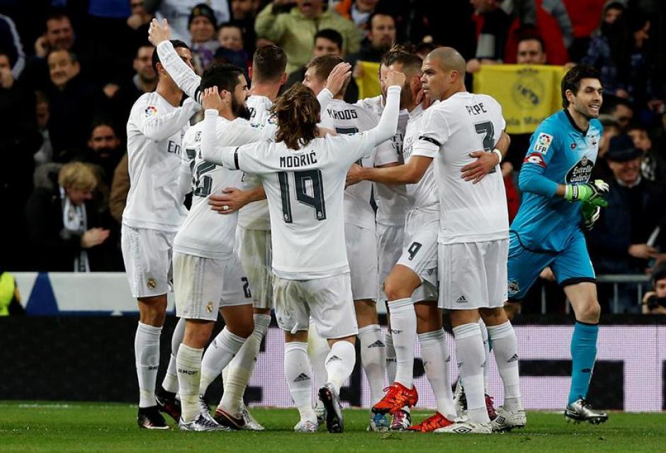 El Madrid ganó su partido 12 de la Liga; de momento subieron a la tercera posición.(Foto: EFE)