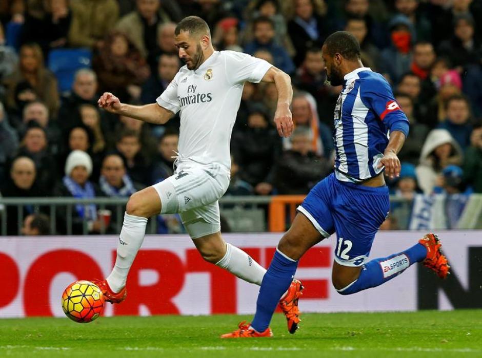 El francés, Karim Benzema, anotó dos goles frente al Depor. Sigue de buena racha con el gol, en la Liga suma 14 tantos.(Foto: EFE)