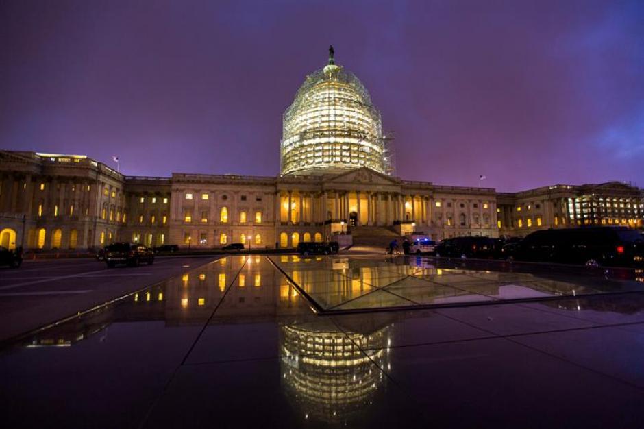 El Congreso de los Estados Unidos antes de que el presidente de EE.UU. Barack Obama pronuncie su último Estado de la Unión. (Foto: EFE)