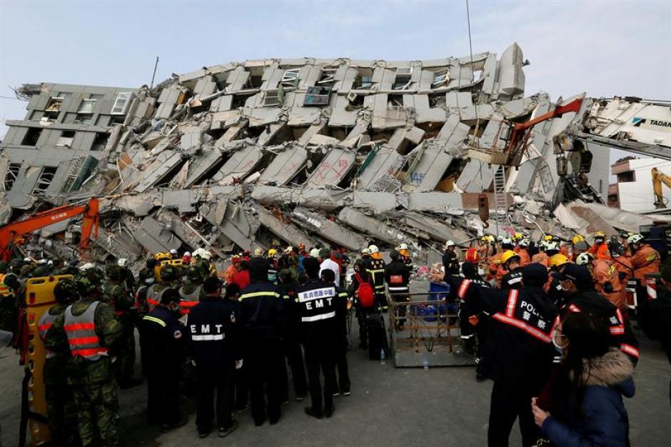 La mayoría de víctimas se encontraban en el edificio Weiguan Jinlong de Tainan.