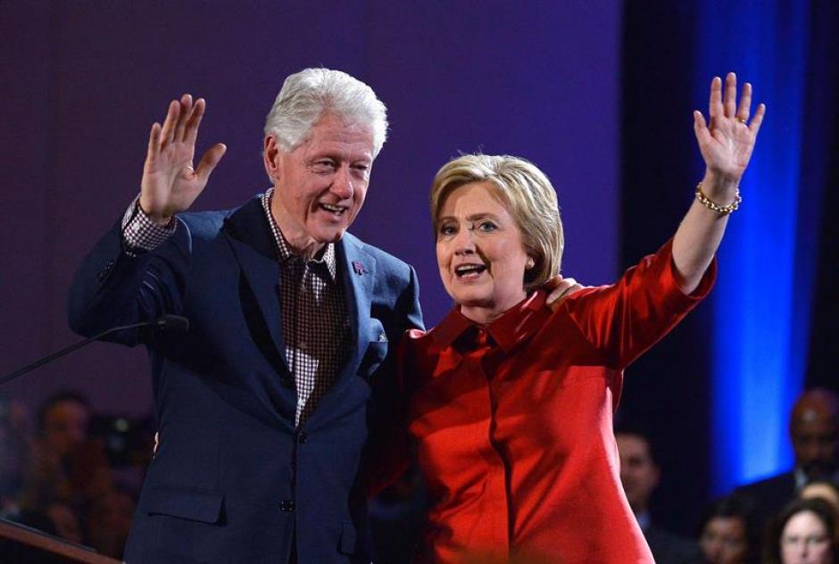 Clinton se cuenta con el 52,3 % de los votos. (Foto: EFE)