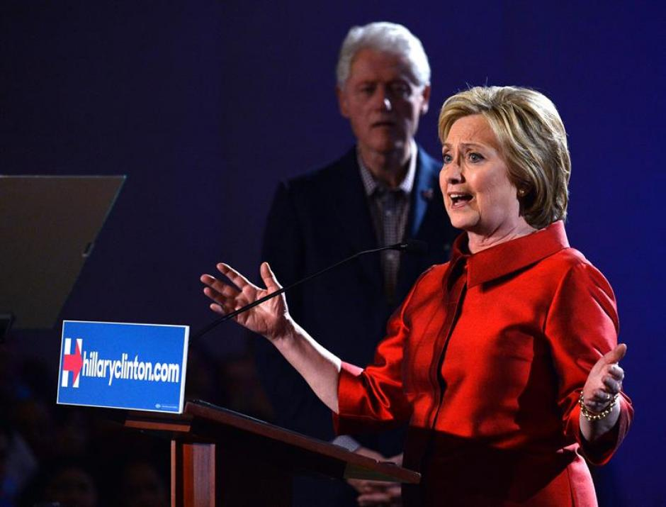 Hillary Clinton venció hoy al senador Bernie Sanders en los caucus demócratas de Nevada. (Foto: EFE)