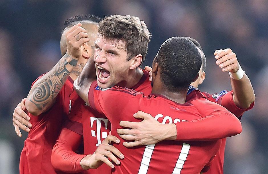 Múnich Thomas Mueller , festeja su gol frente a la Juventus. (Foto: EFE)