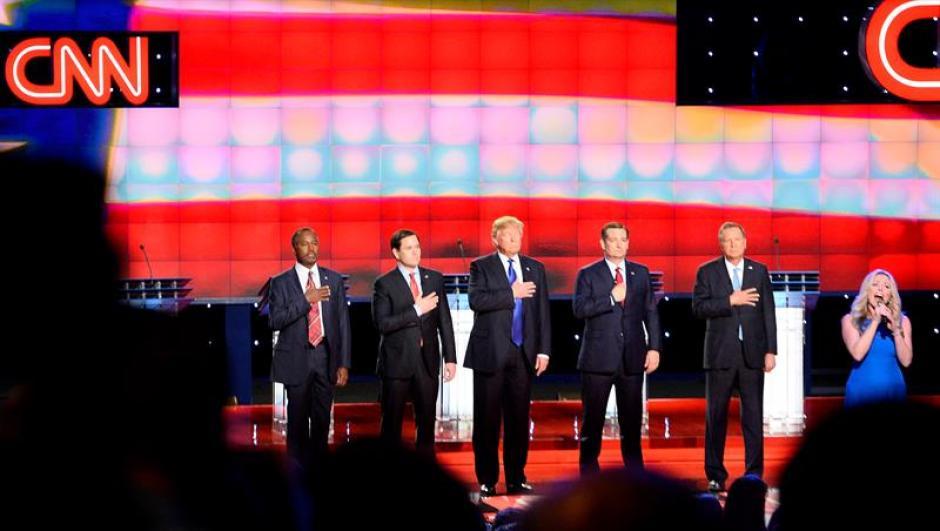 Los precandidatos del partido Republicano a la presidencia de los Estados Unidos Ben Carson, Marco Rubio, Donald Trump, Ted Cruz, Y John Kasich. (Foto: EFE)