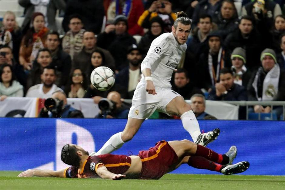 Gareth Bale en una acción del partido frente a Roma. (Foto: EFE)