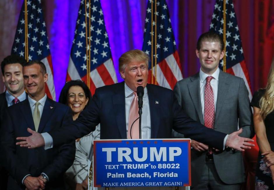 Donald Trump ganó hoy en las primarias del Partido Republicano. (Foto: EFE)