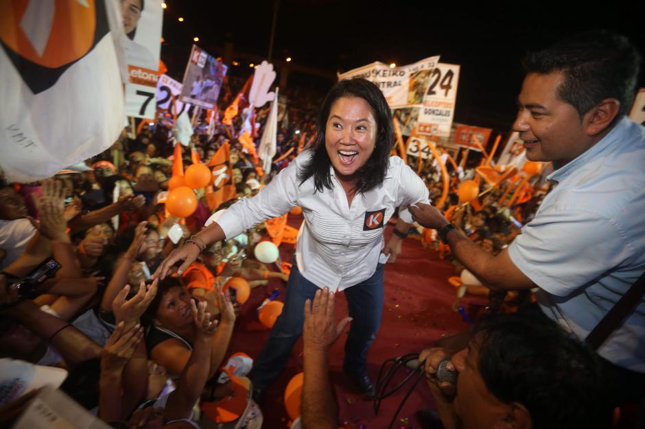 Keiko Fujimori encabeza las encuestas y se pronostica que será necesaria una segunda vuelta en Perú. (Foto: EFE)