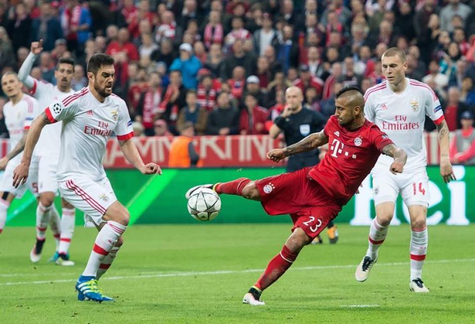 Un potente remate de Vidal le da el triunfo al Bayern. (Foto: EFE)