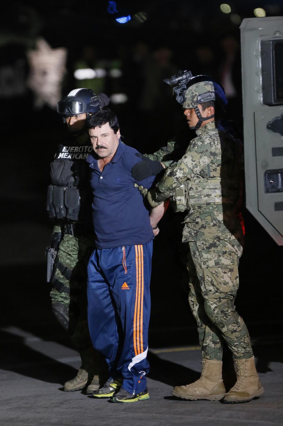"""Fotografía de archivo del 8 de enero de 2016 del narcotraficante Joaquín """"el Chapo"""" Guzmán. (Foto: EFE/José Méndez)"""