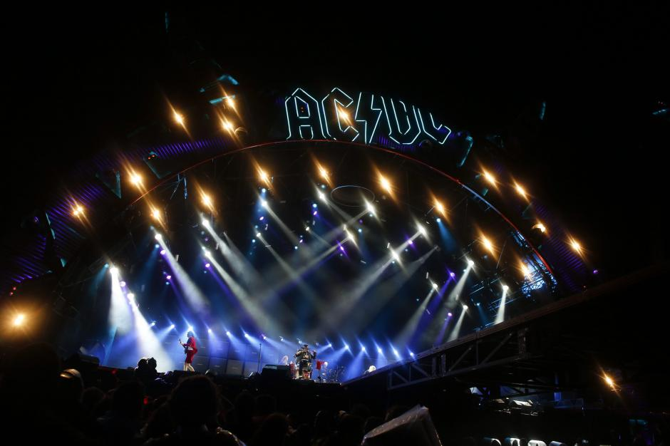 El escenario donde se presentó la banda AC/DC. (Foto: EFE)