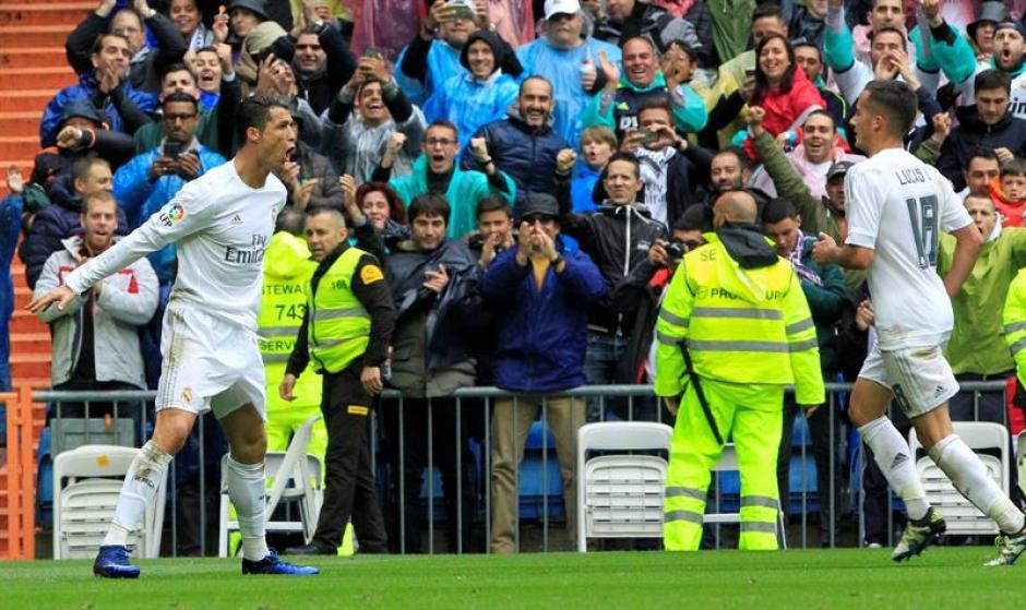 Cristiano Ronaldo abogó por la permanencia de James en el campo. (Foto: EFE)