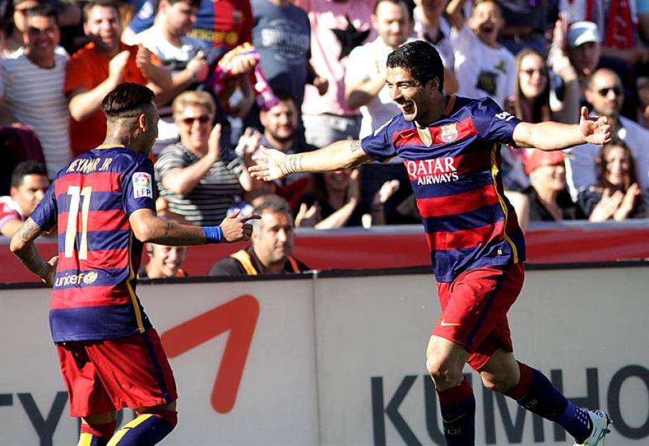 Durante el último partido ante el Granada el uruguayo marcó goles. (Foto: EFE)