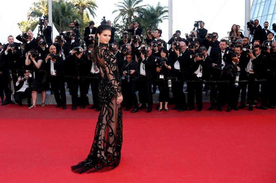 La actriz casi lo mostró todo en el festival de Cannes. (Foto: EFE)